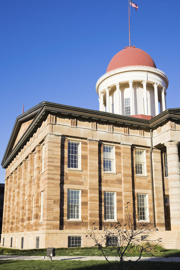 Springfield, Illinois - Capitólio histórico do estado fotografia de stock