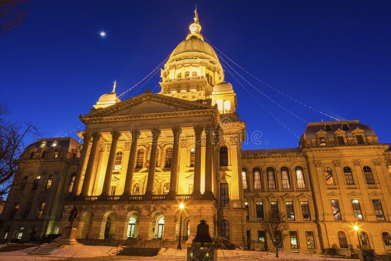 Springfield, Illinois - de Bouw van het Capitool van de Staat stock afbeelding