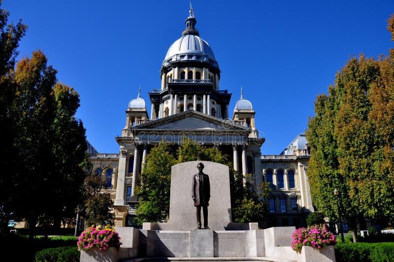 Springfield, Illinois:  De het Capitoolbouw van de staat stock foto's