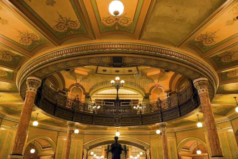 Springfield, Illinois - het Capitool van de Staat stock foto's