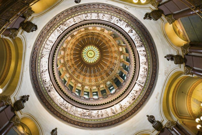 Springfield, Illinois - innerhalb des Zustand-Kapitols stockfotos
