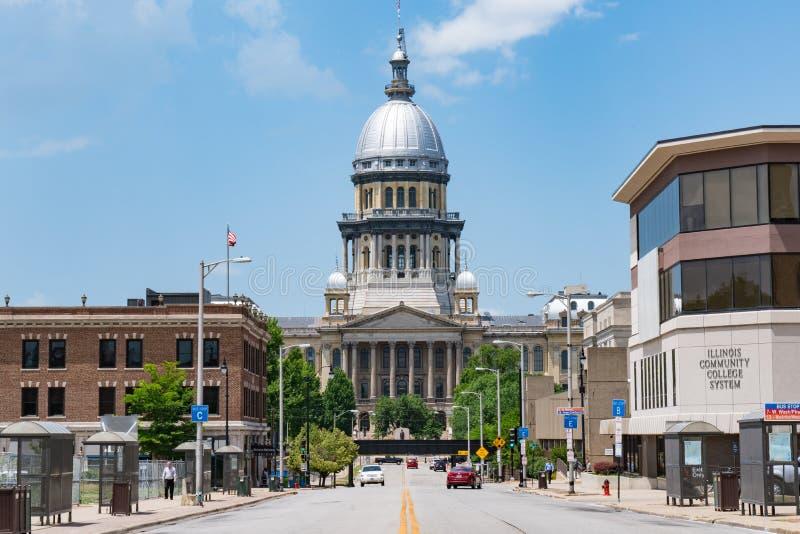 Springfield, Illinois Kapitałowy budynek obrazy royalty free