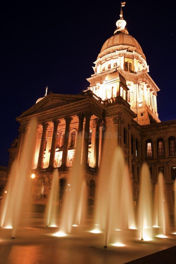 Springfield, Illinois - Stan Capitol Budynek obraz royalty free