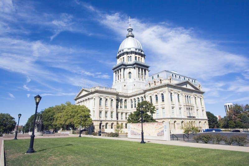 Springfield, Illinois - Zustand-Kapitol lizenzfreie stockfotografie