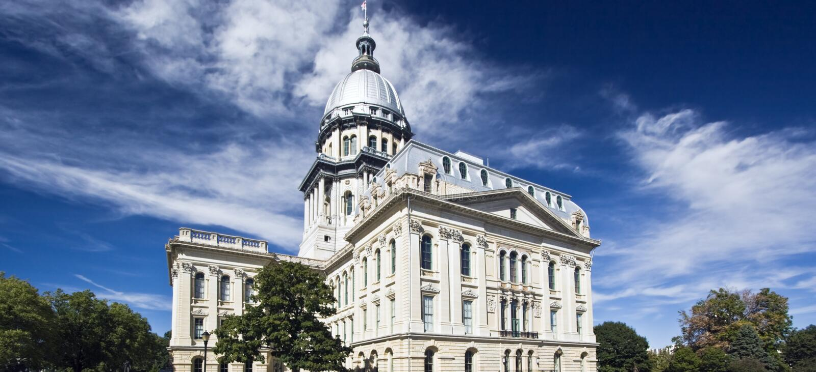 Springfield, l'Illinois - capitol d'état photo stock