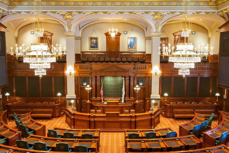 SPRINGFIELD, l'ILLINOIS, Etats-Unis - 11 JUILLET 2018 - intérieur du sénateur images stock