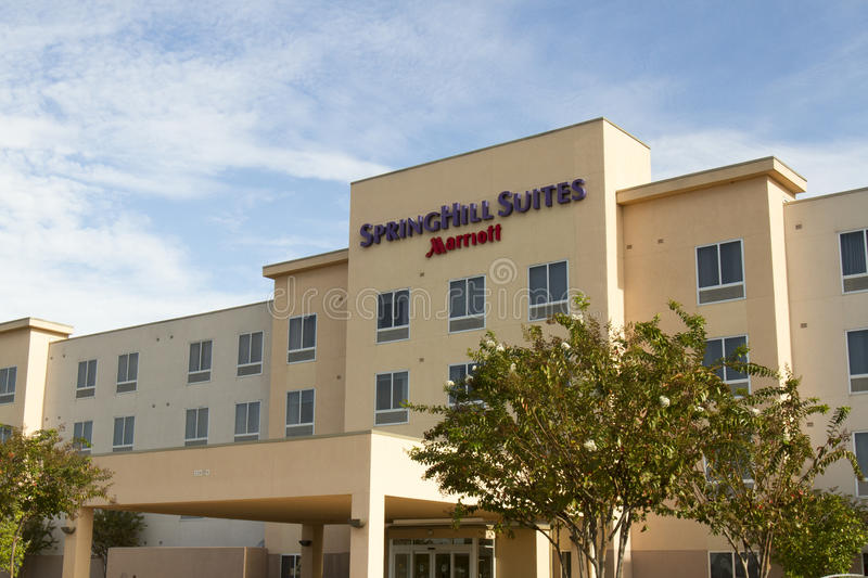 Springhill Suites chain hotel. Bossier City, LA, USA - November 5, 2016 : Entrance sign to Marriott Springhill Suites chain brand hotel stock images