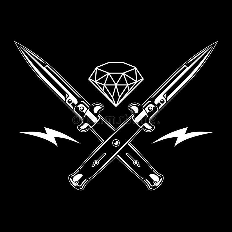 Springmesmes en diamant royalty-vrije illustratie