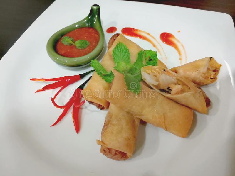 Springroll photo stock