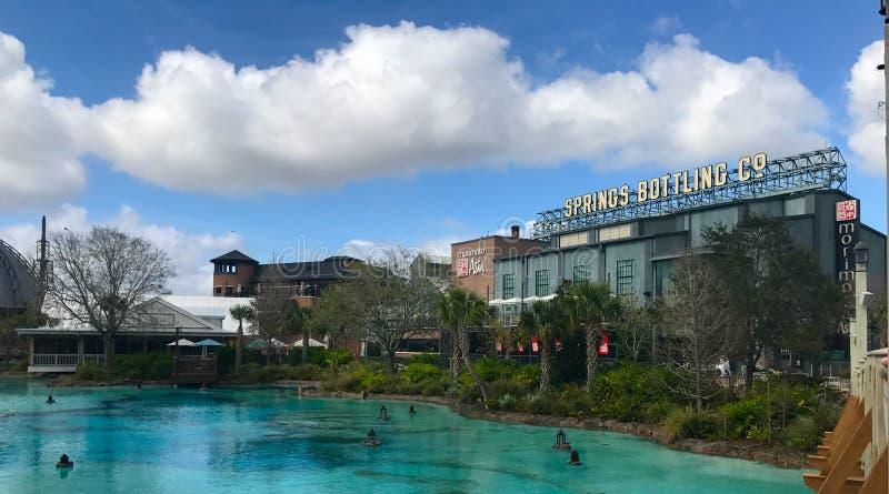 Springs Bottling Co., Disney Springs, Orlando, Florida. Springs Bottling Co. located at Disney Springs in Orlando, Florida stock photos