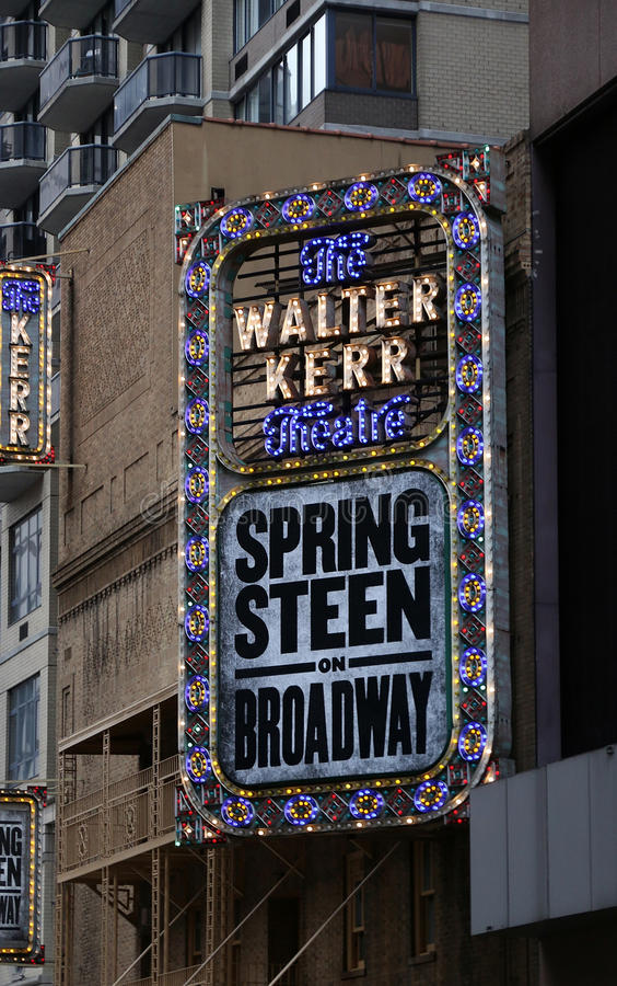 Springsteen auf Broadway stockbild