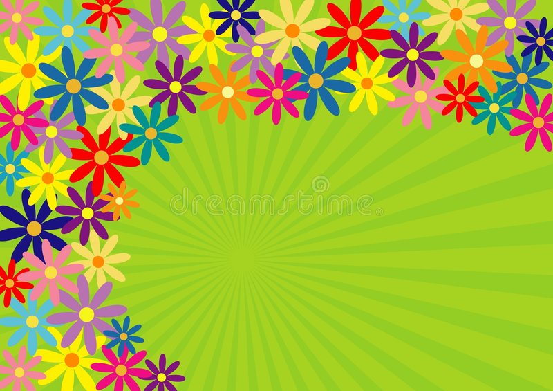 Springtime!. Colorful springtime flower background