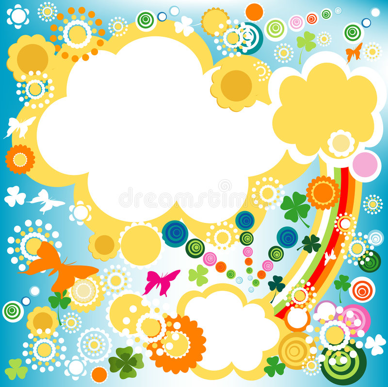 Download Springtime, stock vector. Illustration of dynamic, abstract - 4369557