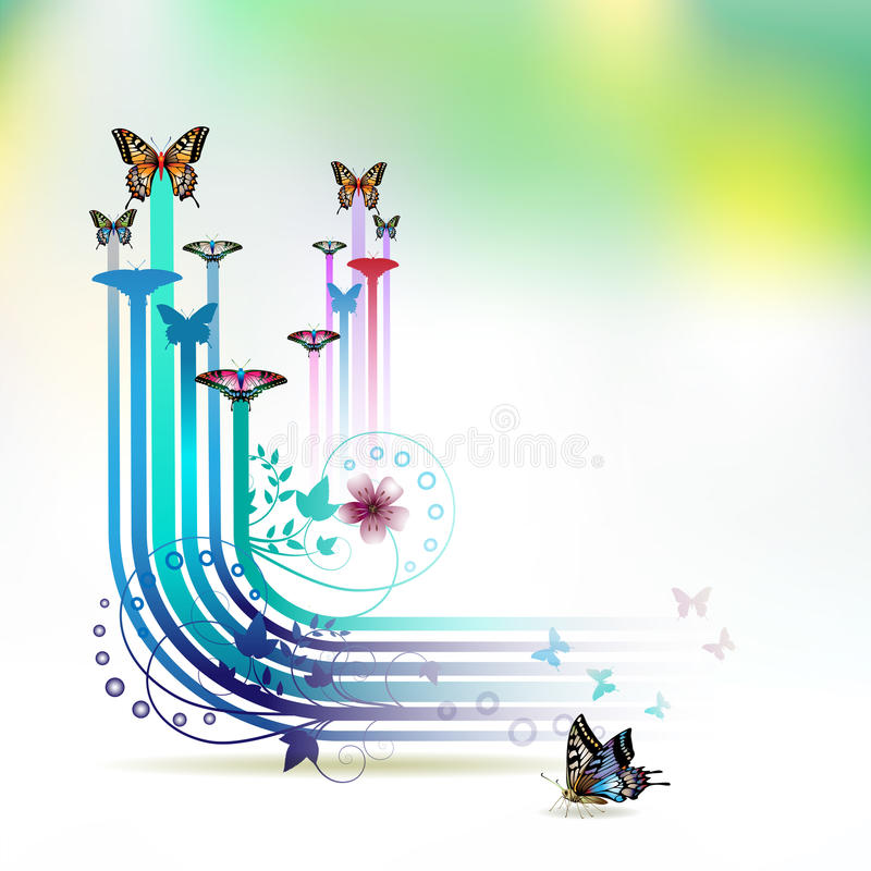 Download Springtime background stock vector. Image of jets, cool - 18347284
