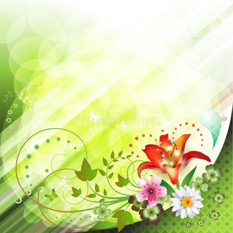 Springtime background vector illustration