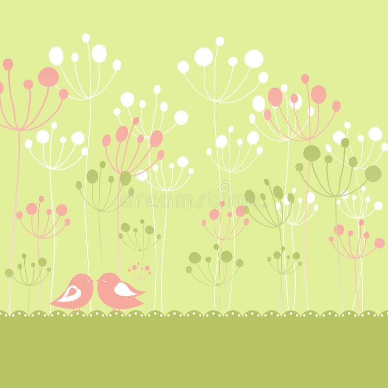 Download Springtime Colorful Birds Green Floral Stock Vector - Illustration: 19224946