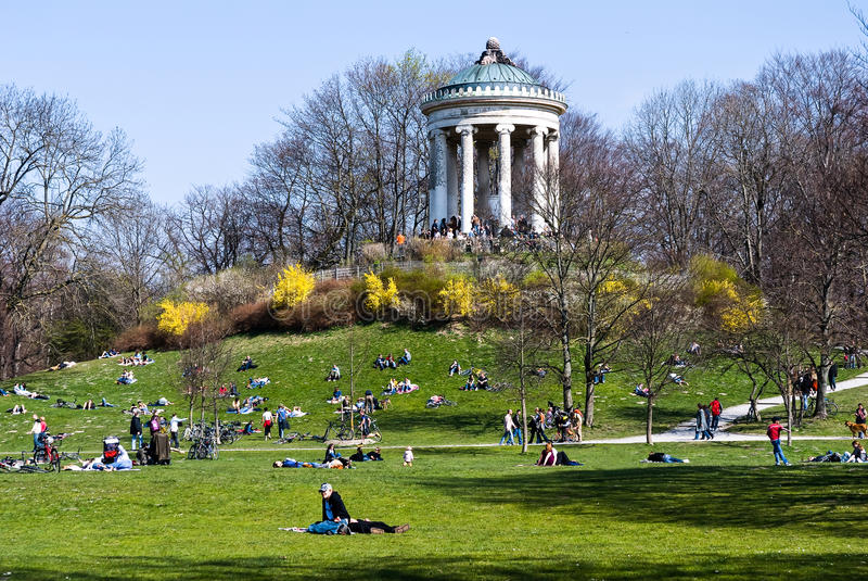 Springtime in English Garden - Munich stock photography