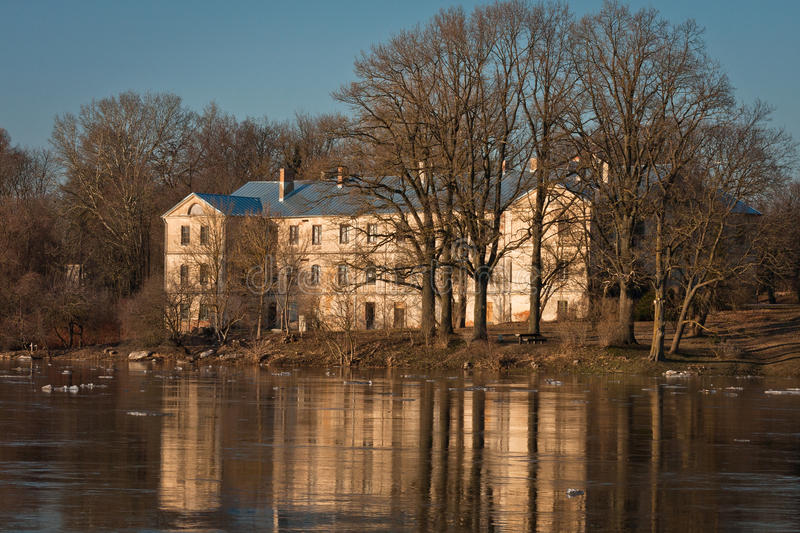 Springtime flooding in Lielupe river. Springtime flooding e in Lielupe river latvia royalty free stock images