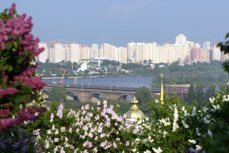 Springtime in Kiev royalty free stock photography