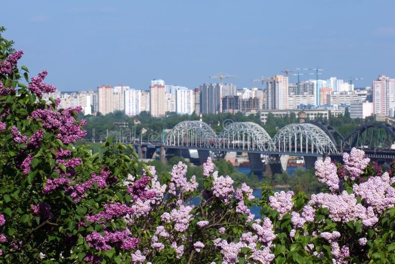 Springtime in Kiev stock images