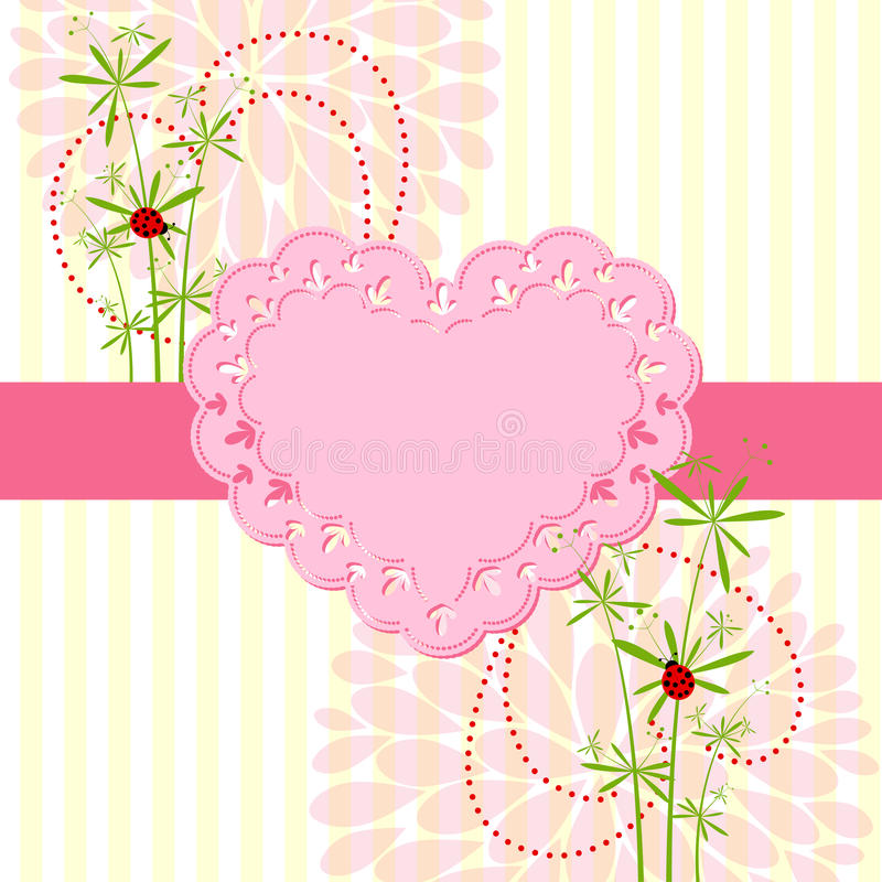 Download Springtime Love Card With Flower Stock Vector - Illustration of yellow, greeting: 28596655