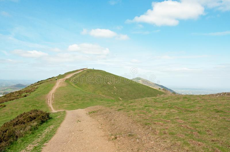 Springtime landscape in the English countryside of the Malvern hills. stock image