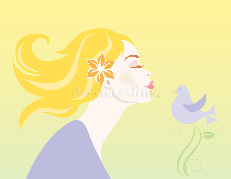 Springtime Muse royalty free illustration