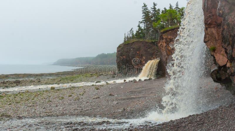 springtime nova scotia coastline in june  waterfalls from