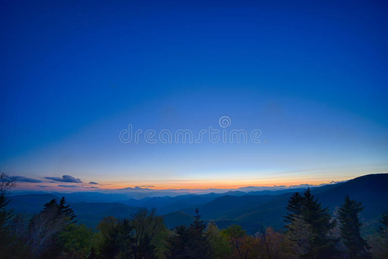 Springtime at Scenic Blue Ridge Parkway Appalachians Smoky Mount. Ains stock images