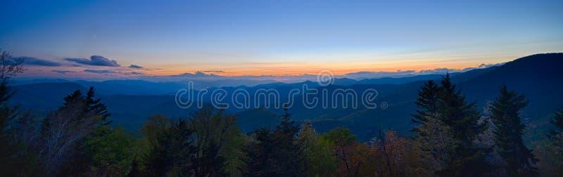 Springtime at Scenic Blue Ridge Parkway Appalachians Smoky Mount. Ains stock photography