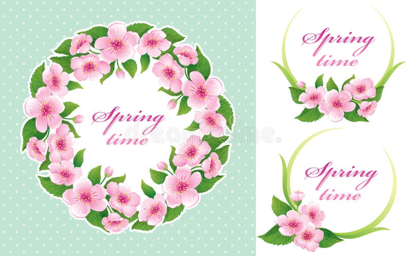 Download Springtime set stock vector. Image of nature, invitation - 66491939