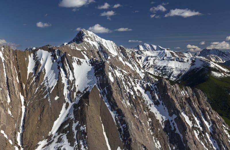 Rugged Snowcapped Mountain Peaks Kananaskis Country Alberta Canadian Rockies stock photos