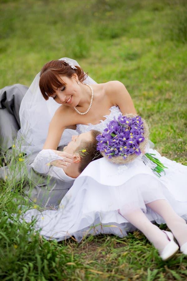springtimebröllop royaltyfria foton