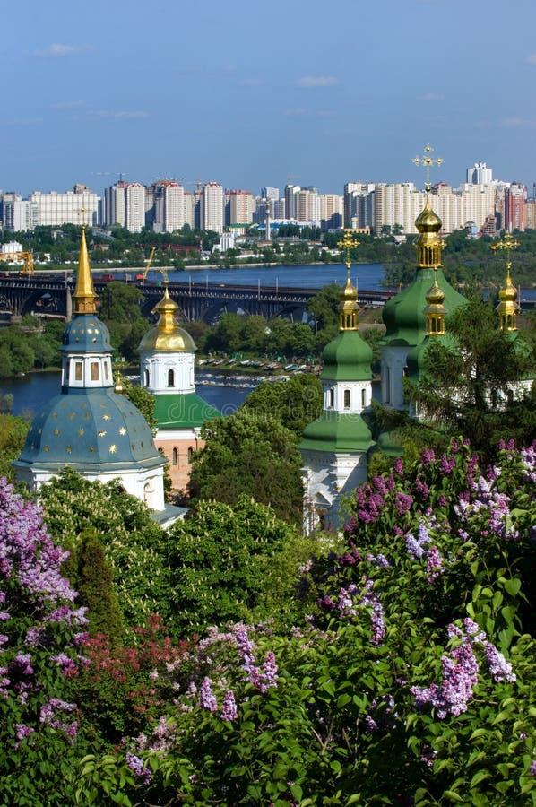 Springtimes in Kiev stock images