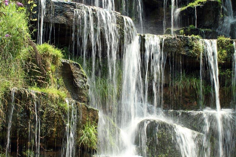Springwaterfall fotografia de stock