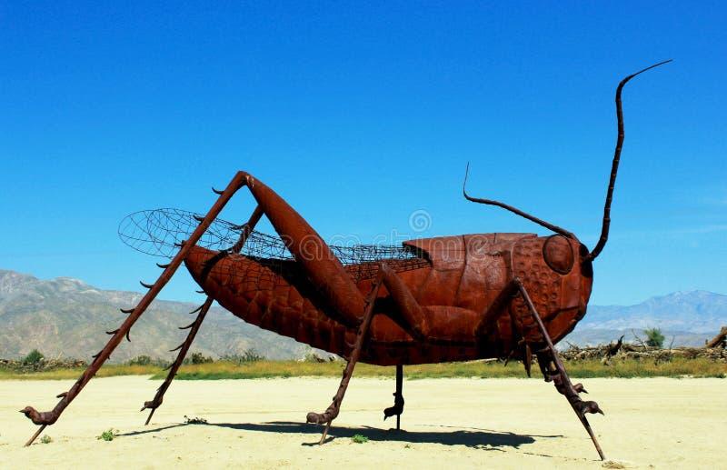 Sprinkhanenbeeldhouwwerk, het Park van de de Woestijnstaat van Anza Borrego, Californië royalty-vrije stock foto's
