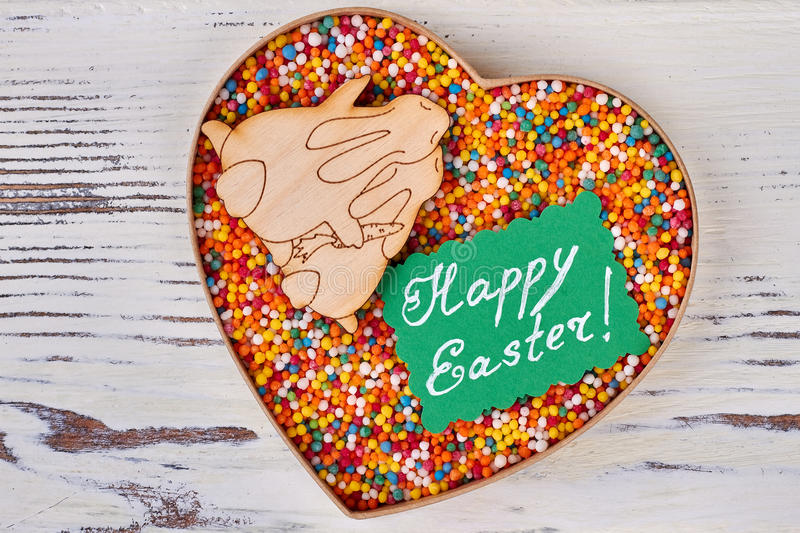 Sprinkle dots, Happy Easter card. stock photos