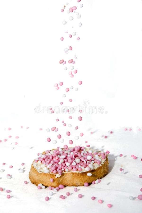 Sprinkled biscuit royalty free stock images