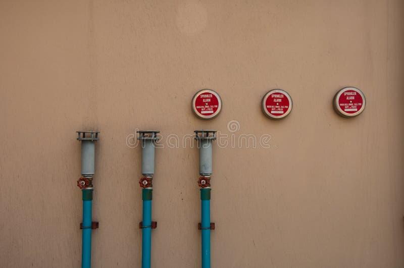 Sprinkler Alarm. When fire, Science faculty, Khonkaen University, Thailand stock image