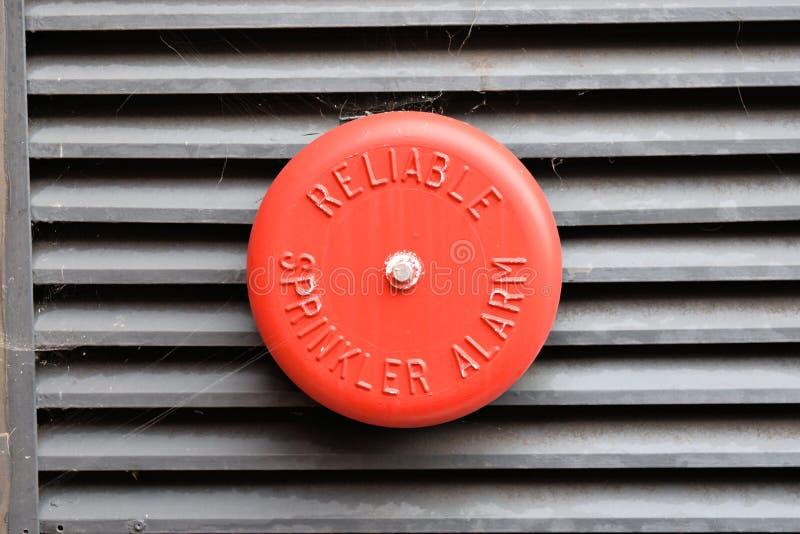 Sprinkler Alarm. Industrial Red sprinkler alarm isolated stock images