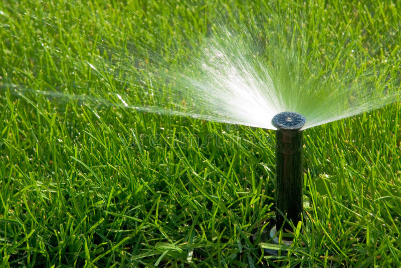 Sprinkler of automatic watering royalty free stock images