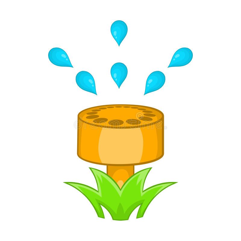 Sprinkler icon in cartoon style vector illustration