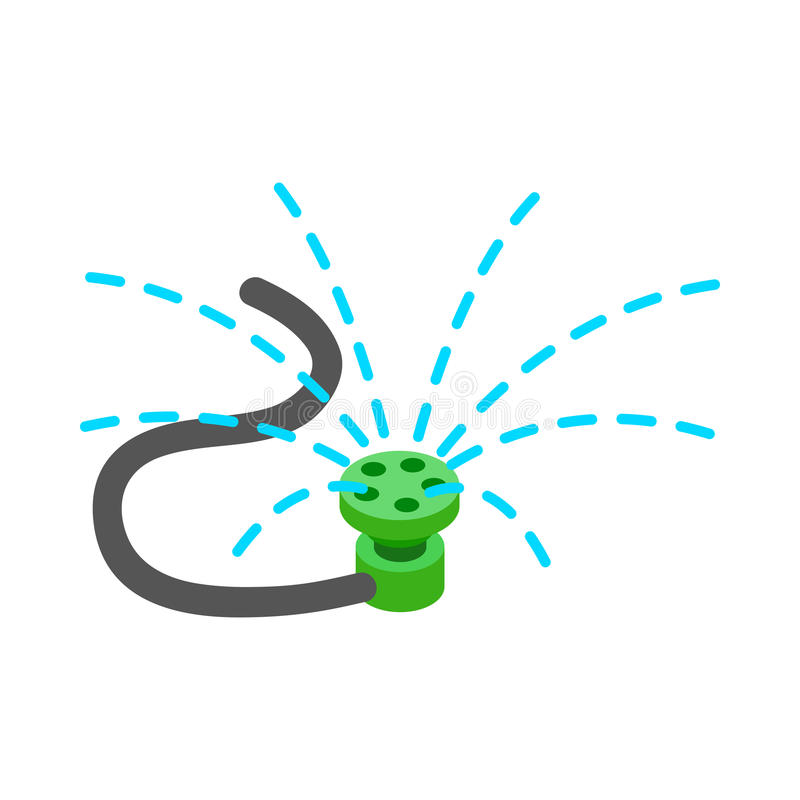 Sprinkler icon, isometric 3d style royalty free illustration
