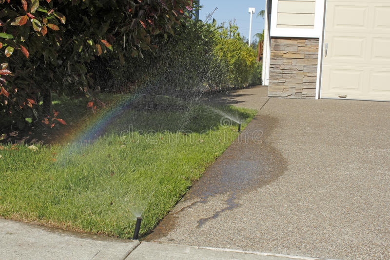Download Sprinkler Making a Rainbow stock image. Image of nobody - 25661395