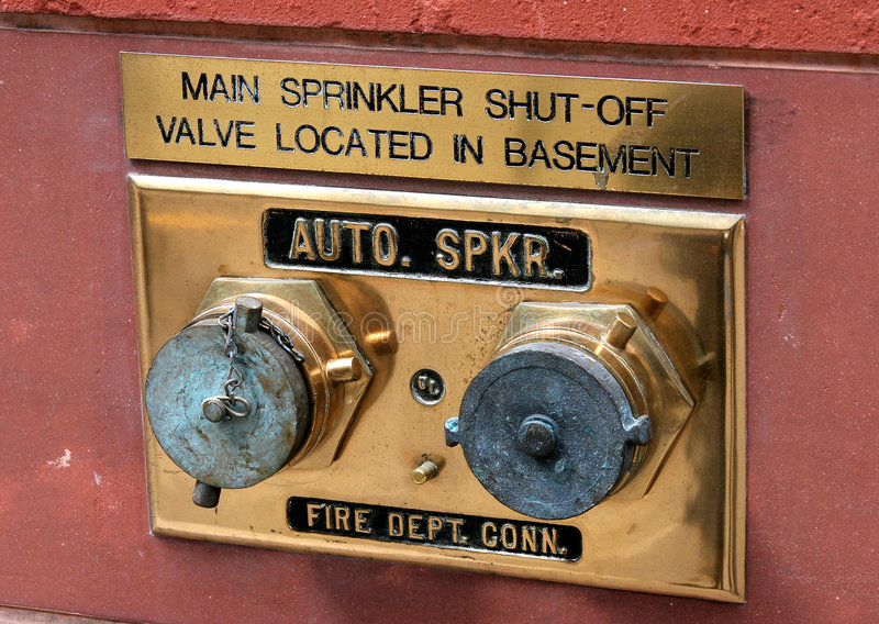 Sprinkler shut off. The sprinkler shut off valves and controls royalty free stock images