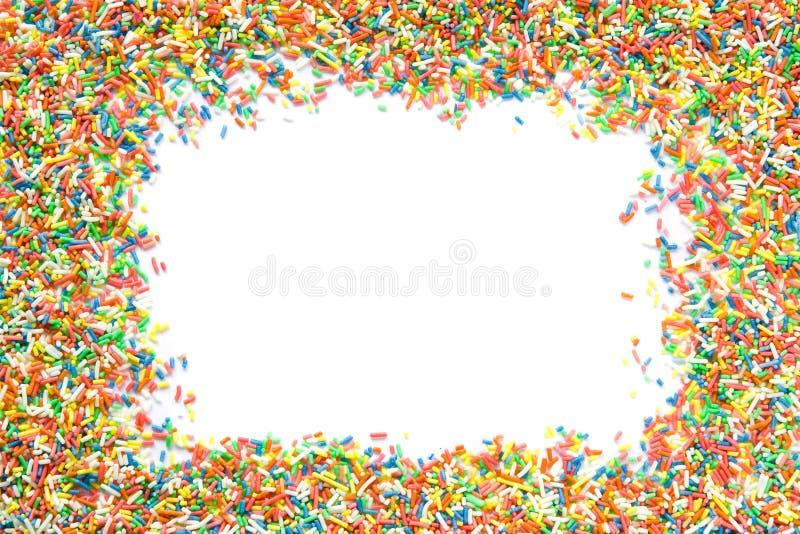 Sprinkles frame royalty free stock photo