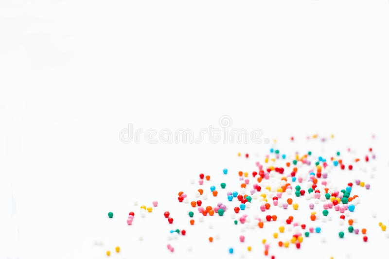 Sprinkles on a white background. stock images
