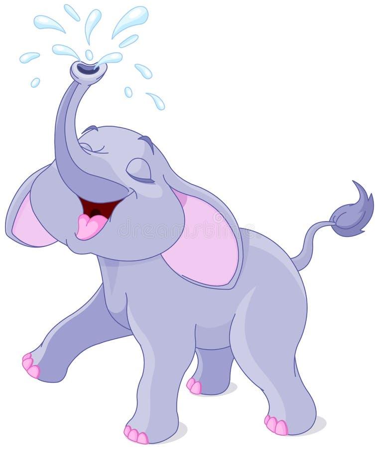 Free Sprinkling Baby Elephant Stock Photo - 42520800