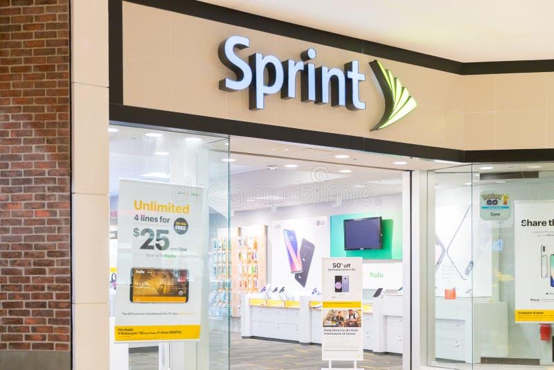 Sprint商店外部 免版税图库摄影
