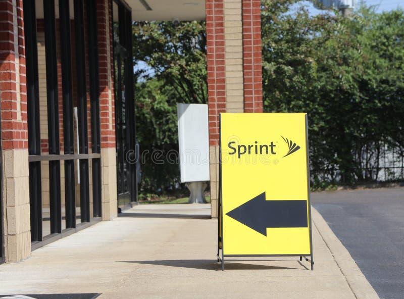 Sprint电信商店前面 免版税库存图片